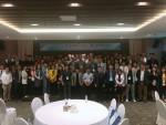 2018 HunCon 컨퍼런스 참석자들이 기념촬영을 하고 있다