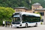 전국 4개 국립공원에서 1달간씩 순차적으로 관광객 셔틀버스로 시범 운영되는 현대자동차 친환경 전기버스 '일렉시티'