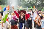 민속촌의 물축제 살수대첩
