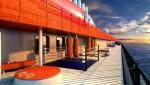 스칼렛 레이디는 야외 트레이닝 존이있는 애슬레틱 클럽을 포함 해 선원에게 해독과 재 시술을 제공합니다.