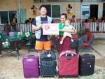 라오스 폰캄지역 초등학교 구호물품 전달