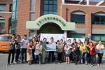 순천시장애인종합복지관 담당자들이 선풍기 배분 후 기념촬영을 하고 있다