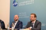 (좌에서 우로) 에티엔 슈나이더 룩셈부르크 부총리 겸 경제부차관, 마르크 세레스 룩셈부르크 우주국장