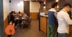 후오비 코리아의 카페테리아는 오픈된 업무공간으로 임직원의 사용도가 높다
