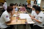 국립중앙청소년수련원은 수련원 방문고객에게 질 높은 고객 서비스 제공을 위하여 고객 접접 직원 대상 CS교육을 하고 있다