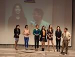 심현섭 사장과 RNX TV 소속 고한나, 문지영, 이루시, 서주아, 에바, 주교빈(왼쪽부터) 셀럽들
