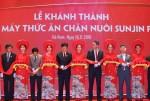 스마트 축산식품전문기업 선진이 베트남 하남에 월 3만톤 생산 규모의 사료 공장을 준공했다