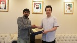 Letsflyfree의 CEO Rajendra Alapati(좌), 로커스체인 파운데이션의 대표이사 이상윤