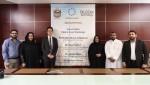 LocusDAX의 설립 및 운영에 관한 계약 조인식. 좌로부터 세 번째 로커스체인 파운데이션의 이상윤 대표이사, 우측 세 번째 두바이의 공주 Sheikha Moaza Obaid S
