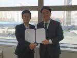왼쪽부터 주식회사 프리즘 대표 전창열, 리걸블록 대표 김민규