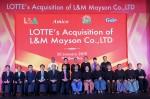 롯데제과가 미얀마 제과회사 메이슨 인수식을 가지고 미얀마에서의 새로운 제과사업 개시를 공식화했다