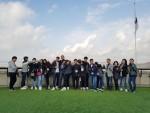 레인보우스쿨 학생들이 안보체험 교육을 실시 후 통일전망대에서 기념사진을 촬영했다