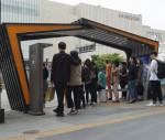 코리아텍 링크플러스사업단이 천안시와 협력하여 천안버스터미널 앞에 설치한 버스승강장