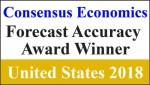 무디스 애널리틱스가 컨센서스 이코노믹스의 미국 부문 2018 전망 정확성 어워드를 수상했다