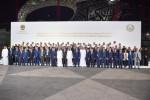 UAE 부통령 겸 총리이자 두바이 통치자 셰이크 모하메드 빈 라시드와 우즈벡 대표단