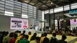 최용준 룰루랩 대표가 중국 상하이에서 열린 CES ASIA 2019에 마련된 'Beauty and Wellness Reimagined' 콘퍼런스에서 기술 기반의 뷰티 산업에 대해 발표하고 있다