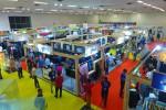 인도 의류섬유기계 전시회장