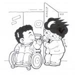 장애인먼저실천 포스터