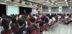 YBM 산하 한국TOEIC위원회가 주최한 2019 하반기 취업콘서트(연세대학교)에서 참석자들이 강연을 듣고 있다