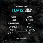 인디스땅스2019 TOP 12 명단