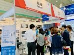 옴니씨앤에스가 국제병원·의료기기 산업박람회서 옴니핏 제품 라인을 선보이고 있다