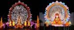 (좌)중국 등불 제작 전문가가 참여하여 제작한 불상 천수관음 (우)경주시 2019 경주세계문화유산 등 축제에 전시되고 있는 불상