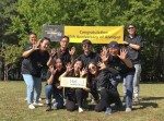 알보젠 임직원들이 알보젠 글로벌 창립 10주년 및 2019 알보젠데이를 맞아 건강한 근무환경 조성을 위한 사내 행사를 실시하고 기념촬영을 하고 있다