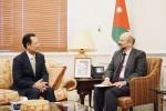 왼쪽부터 김종갑 한전 사장과 오마르 알 라자즈 요르단 총리가 면담을 하고 있다