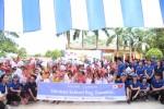 함께하는 사랑밭은 공동모금회의 지원을 받아 신한카드와 함께 해외아동들에게 아름인 책가방을 전달했다