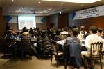 NIPA 스마트콘텐츠 해외진출지원사업 통합간담회에서 각 기업 참여자들이 전문교육을 듣고 있다