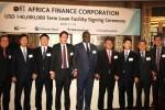 왼쪽부터 한국은행 런던사무소장, 금융감독원 런던사무소장, KEB 하나은행 런던지점장, 네드뱅크 영국지사장, 아프리카금융공사(AFC) 대표 겸 CEO, 신한금융그룹 그룹&글로벌 투자