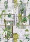 건국대 김희영 학생의 Wall with Green Hanging-plants