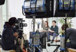 SK텔레콤 구성원들이 온라인 채용 설명회 T커리어 캐스트 중계를 준비하고 있다