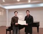 왼쪽부터 오디오가이 최정훈 대표와 문화예술네트워크 위드 조용현 대표