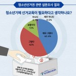청소년 선거교육 필요성 설문조사 결과