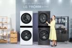 LG전자가 일체형 디자인의 원바디 세탁건조기 LG 트롬 워시타워를 출시했다