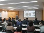 웹케시, 대한숙박업중앙회, 원글로벌이 공동 주최한 숙박예약 플랫폼 교육 설명회에서 참석자들이 교육을 듣고 있다