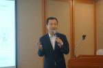 여의도에서 개최된 기자간담회에서 셀레믹스 이용훈 대표이사가 코스닥 시장 상장에 따른 향후 성장 전략 및 비전을 발표하고 있다