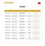 청약결과와 리스트를 확인할 수 있는 FOCOO 홈페이지