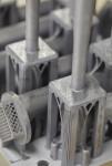 Concept Laser M2 UP1 3D 프린터에서 레이저 파우더 베드 퓨전으로 제작 된 3D 인쇄 격자 알루미늄 항공 우주 부품