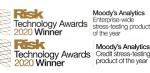 무디스 애널리틱스가 리스크 테크놀로지 어워드의 2개 스트레스 테스트 솔루션 부문 상을 받았다