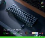 레이저가 일반 키보드의 60%로 사이즈를 줄인 옵티컬 게이밍 키보드 'RAZER Huntsman Mini' 시리즈를 국내 공식 출시한다