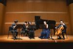 왼쪽부터 윤승호 플루티스트, 김상헌 피아니스트, 강아연 바이올리니스트, 이주미 바이올리니스트, 김어령 첼리스트