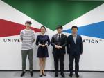 왼쪽부터 UDC 상 수상자 아오리우, 휘휘주, 정원재, 이준엽