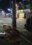 선경에코텍은 통진 시내 정리되어 있지 않고 버려져 있는 박스 폐기물 등을 처리했다