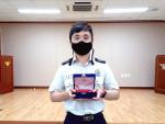 감사패를 전달받은 영천소방서 조나단 소방교