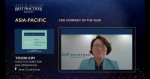 '2020년 프로스트 앤드 설리번 올해의 아시아 태평양 지역 임상시험수탁기관'상을 받은 노보텍 김윤이 아시아 사업부 대표