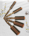 NAHA BRUSH is made of premium wood and natural boar bristles and double nylon pins.