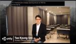 씨엠에스에듀 엄태경 전략기획실장이 유니티 포 휴머니티 서밋 2020서 새로운 코딩교육 플랫폼 코드얼라이브의 특장점을 소개하고 있다