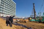 요진건설산업 2020년 하반기 신규 입사자들이 현장 교육 훈련(OJT)을 받고 있다